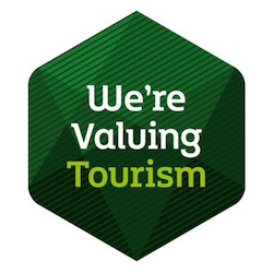 We are valuing tourism logo
